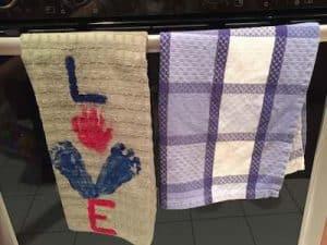 homemade gifts LOVE hand towel