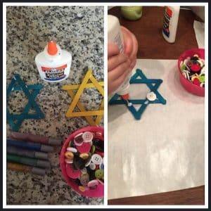 star of david Hanukkah art projects