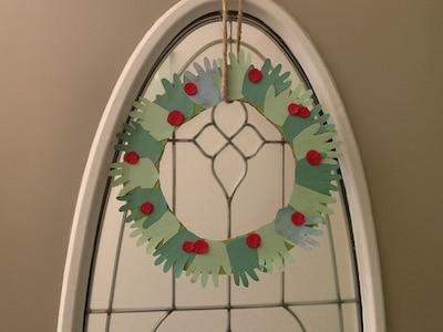 homemade handprint wreath
