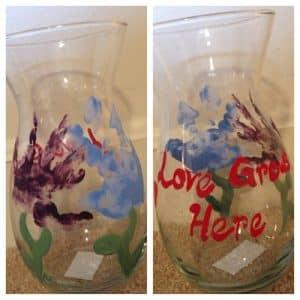 Handprint vase for Mom