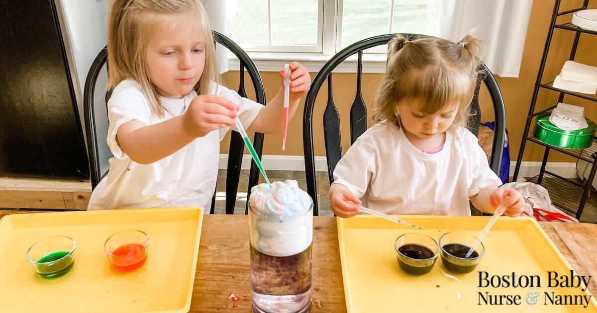 preschool STEM science experiment