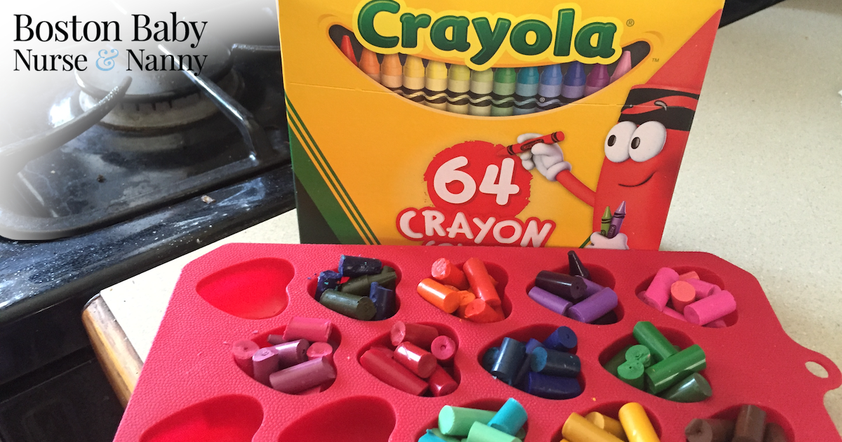heart shaped crayon in molds