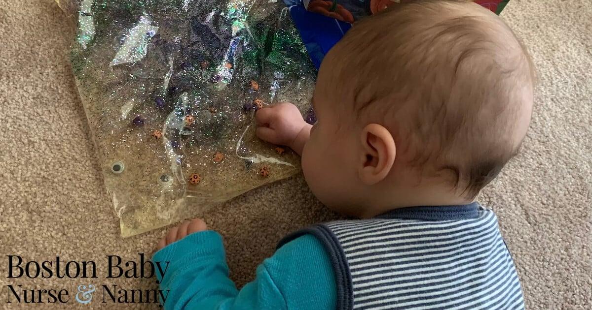 infant tummy time sensory bag