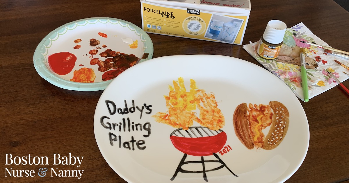 hand print grill platter father's day