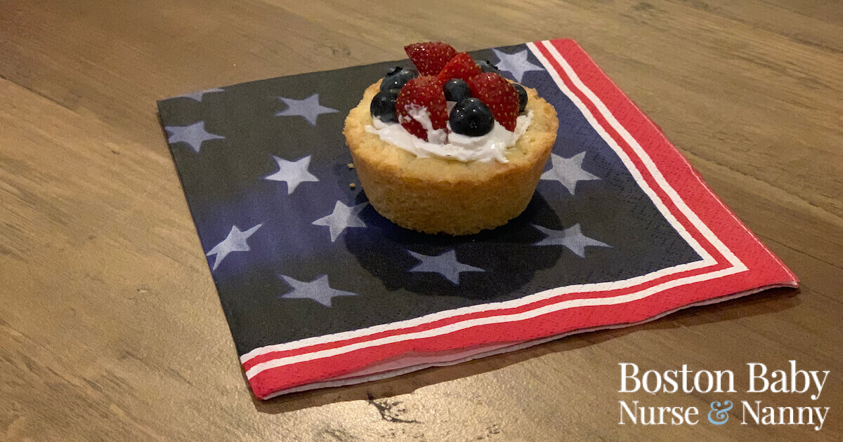 4th of July fruit tart
