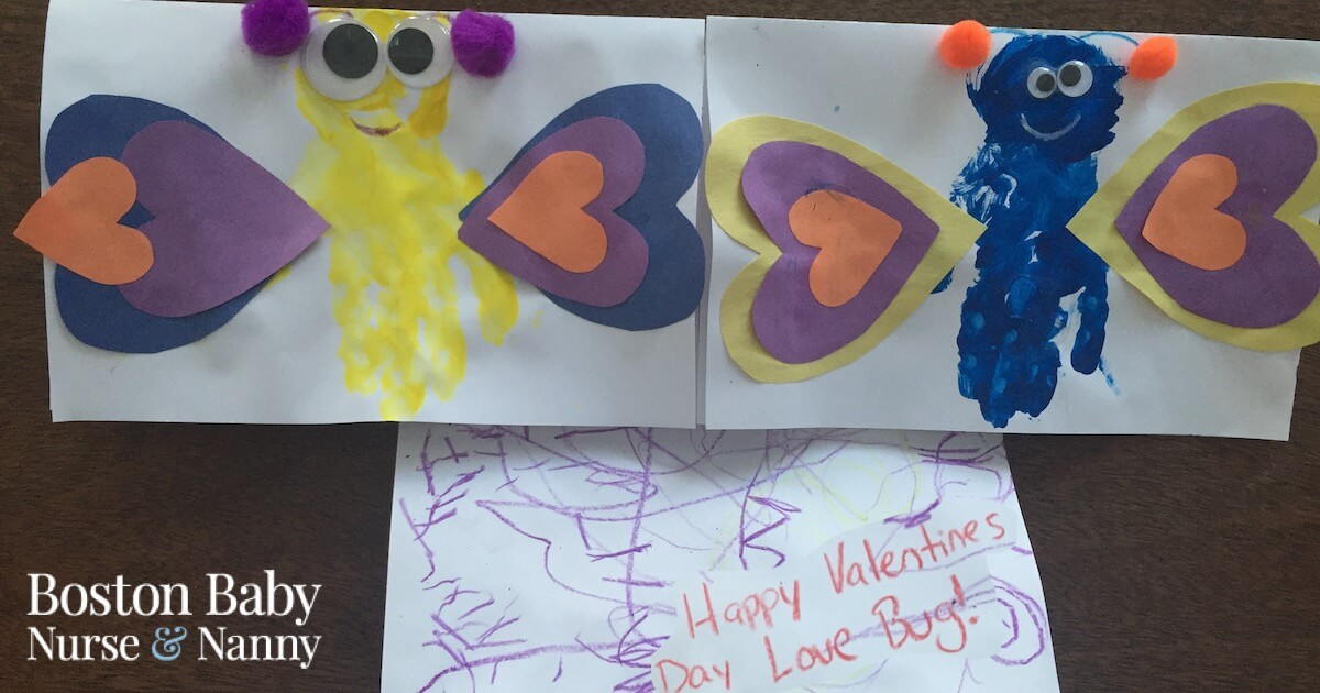 Valentine's Day Card Love Bugs
