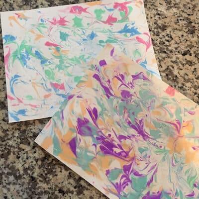 paper marbling for kids