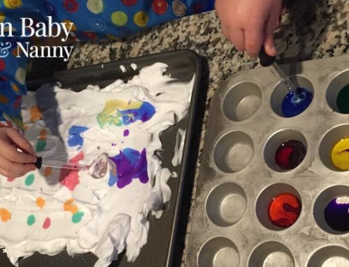 Art Class At Home: Paper Marbling with Shaving Cream
