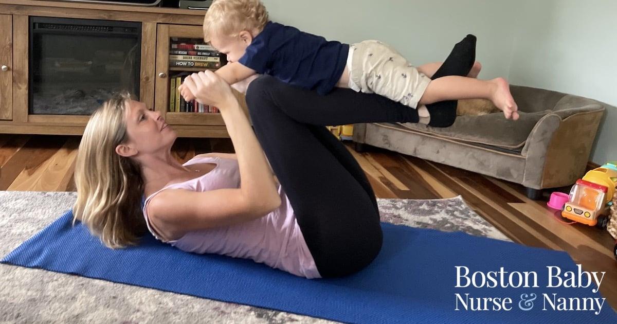 mom and baby yoga pose