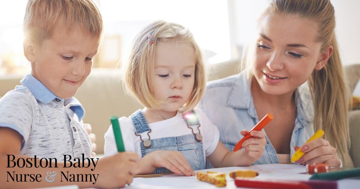 unicorn nanny drawing with kids